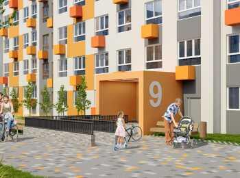 Подъезды на уровне земли в жилом комплексе ЖК Новая Рига